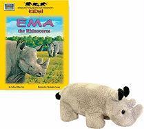 Ema the Rhinoceros [With Plush] - Grey, Chelsea Gillian