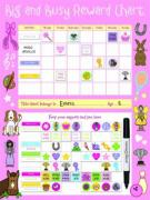 Big and Busy Reward Chart, Pink - Priddy, Roger