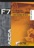 ACCA - F7 Financial Reporting (INT)