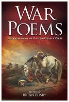 War Poems - Busby, Brian