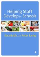 Helping Staff Develop in Schools - Bubb, Sara; Earley, Peter