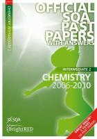 Chemistry Intermediate 2 SQA Past Papers