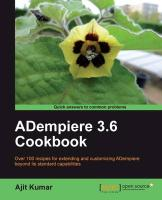 Adempiere 3.6 Cookbook - Kumar, Ajit