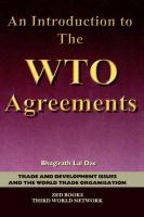 An Introduction to the Wto Agreements - Lal Das, Bhagirath; Das, Bhagirath Lal
