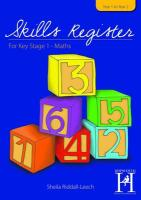 Skills Register for KS1 - Riddall-Leech, Sheila