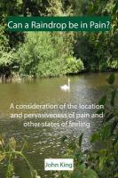 Can a Raindrop Be in Pain?: A Consideration of the Location & Pervasiveness of Pain and Other States of Feeling - King, John