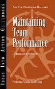 Maintaining Team Performance - Kanaga, Kim; Browning, Henry