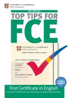 The Official Top Tips for FCE