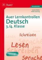 Auer Lernkontrollen Deutsch, Klasse 3/4