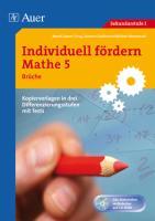 Individuell fördern Mathe 5 Brüche