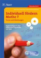 Individuell fördern Mathe 7 Terme und Gleichungen