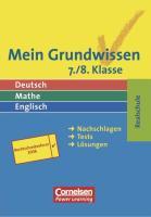 Mein Grundwissen. 7./8. Klasse. Realschule (Cornelsen Scriptor - Grundwissen - Ich hab's!)