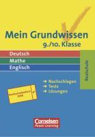 Mein Grundwissen. Deutsch, Mathe, Englisch. 9./10. Klasse. Realschule