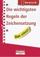 Das sitzt! Deutsch. Die wichtigsten Regeln der Zeichensetzung: Heft im Hosentaschenformat