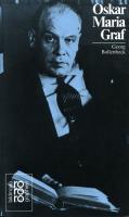 Oskar Maria Graf: Mit Selbstzeugnissen und Bilddokumenten (Rowohlts Monographien)