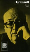 Rowohlt Bildmonographien: Friedrich Durrenmatt (Rowohlts Monographien)
