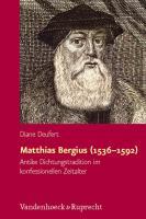 Matthias Bergius (1536–1592
