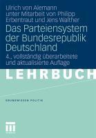 Das Parteiensystem derBundesrepublik Deutschland (Grundwissen Politik)