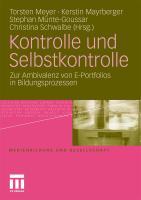 Kontrolle Und Selbstkontrolle: Zur Ambivalenz Von E-portfolios In Bildungsprozessen