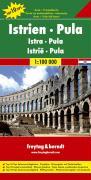 Istrien. Pula 1 : 100 000. Auto- und Freizeitkarte