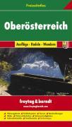 Freizeitatlas Oberösterreich. Ausflüge-Radeln-Wandern. 1:50 000-1:200 000.: Toeristische atlas 1:50 000 / 1:200 000