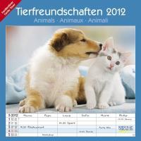 Tierfreundschaften/Animals/Animaux/Animali - Familientimer 2012. Broschürenkalender