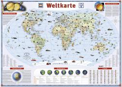 Was ist Was Illustrierte Weltkarte. 1 : 47 500 000. Poster