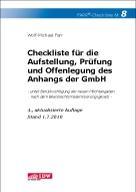Checkliste für die Aufstellung, Prüfung und Offenlegung des Anhangs der GmbH - Farr, Wolf-Michael