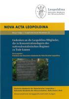 Gedenken an die Leopoldina-Mitglieder, die in Konzentrationslagern des nationalsozialistischen Regimes zu Tode kamen