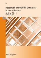 Mathematik für berufliche Gymnasien - Abitur 2020 - Wahlgebiet: Vektorgeometrie