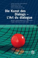 Die Kunst des Dialogs - L'Art du dialogue