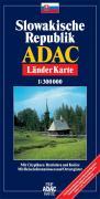 ADAC LänderKarte Slowakische Republik 1 : 300 000
