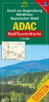 ADAC Radtourenkarte Rund um Regensburg, Nördlicher Bayerischer Wald: 1:75000