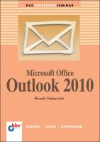 Microsoft Office Outlook 2010 (bhv Einsteigerseminar)