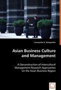 Asian Business Culture and Management - Steinpichler, Constantin K.