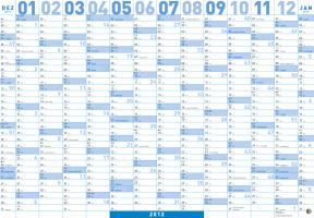 Mega Posterplaner blau 2012