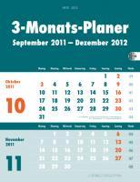 3-Monatsplaner grün 2012