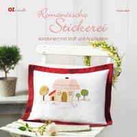 Romantische Stickerei kombiniert mit Stoff und Applikation