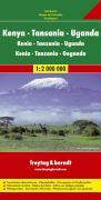 Freytag Berndt Autokarten, Kenya, Tanzania, Uganda: Mit Ortsverzeichnis. Mit Klimatabellen (Road Maps). 1:2 000 000