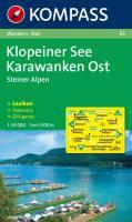 Klopeiner See, Karawanken Ost: Wanderkarte mit Kurzführer, Panorama und Radwegen. GPS-geeignet. 1:50.000