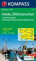 Heide, Dithmarschen im Nationalpark Schleswig-Holsteinisches Wattenmeer: 1:50.000, Wander- und Bikekarte