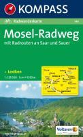 Kompass Karten, Mosel-Radweg mit Radrouten an Saar und Sauer
