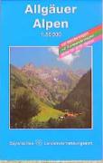 Allgäuer Alpen 1 : 50 000: Topographische Karte mit Wanderwegen, Radwanderwegen und Gitter für GPS-Nutzer