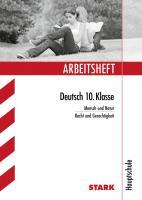 Arbeitsheft Deutsch 10. Klasse Hauptschule