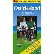 ADFC-Regionalkarte Ostfriesland 1 : 75 000: Die neue große Wanderkarte! Alle Radtouren für Wochenendtouren und Tagesausflug. Mit Straßennamen zur besseren Orientierung