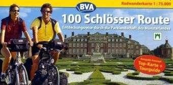 100 Schlösser Route. Radwanderkarte 1 : 75 000: Entdeckungsreise durch die Parklandschaft Münsterland. Kompakt-Konzept. Top-Karte und Tourguide