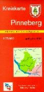 Kreiskarte Pinneberg 1 : 75 000. Mit Gemeindegrenzen.
