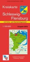 Kreiskarte Schleswig-Holstein Schleswig-Flensburg