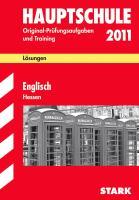 Hauptschule 2011. Englisch. Hessen. Lösungsheft