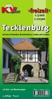 Tecklenburg: Mit den Ortsteilen Brochterbeck, Ledde und Ledden mit Rad- und Wanderwegen. Ortspläne 1 : 5 000, Freizeitkarte 1 : 12 500